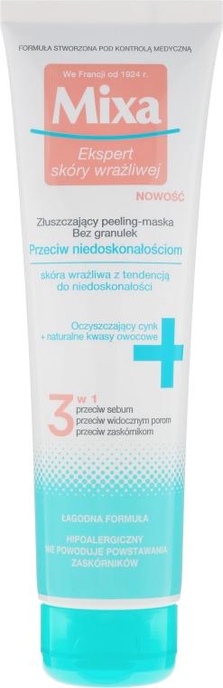 Złuszczający peeling-maska przeciw niedoskonałościom - Mixa Face Peeling Mask 3in1