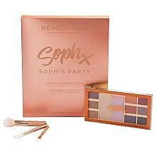 Kup Zestaw cieni i pędzli do makijażu - Makeup Revolution Soph's Party (eyeshadow/9x1,1g,2x5,2g+brush/3pc.)