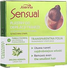 Kup Plastry z woskiem z ekstraktem z zielonej herbaty do depilacji twarzy - Joanna Sensual