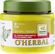 Kup Maska z ekstraktem z macierzanki tymianku do włosów farbowanych - O'Herbal