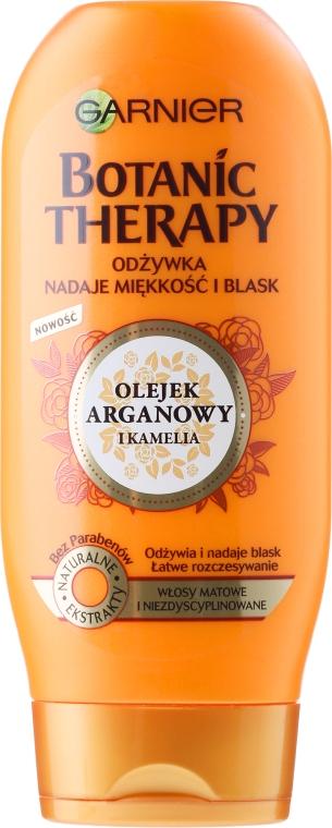 Odżywka do włosów matowych i niezdyscyplinowanych Olej arganowy i kamelia - Garnier Botanic Therapy