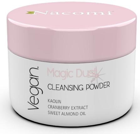 Oczyszczający puder rozjaśniający do twarzy do skóry suchej - Nacomi Vegan Cleansing & Brightening Powder Magic Dust