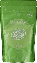 Kup Cukrowy peeling antycellulitowy Matcha - BodyBoom Body Scrub