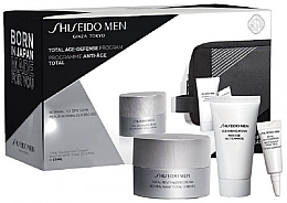 Kup Zestaw dla mężczyzn - Shiseido Men Total Age-Defense Program Set (cr/50ml + foam/30ml + eye/cr/3ml + bag)