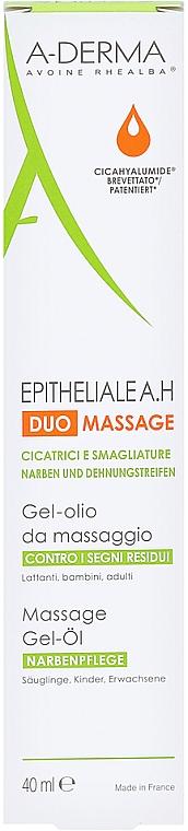 Żelowy olejek do masażu przeciw bliznom i rozstępom - A-Derma Epitheliale AH Massage — фото N6