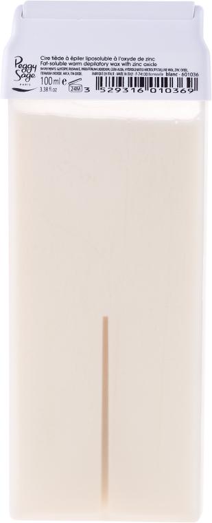 Perłowy wkład z woskiem do depilacji na ciepło - Peggy Sage Cartridge of Fat-Soluble Warm Depilatory Wax Blanc