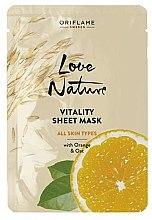Kup Witalizująca maska w płachcie do twarzy z pomarańczą i owsem - Oriflame Love Nature