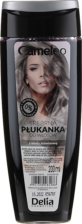 Srebrna płukanka do włosów z wodą jaśminową - Delia Cameleo