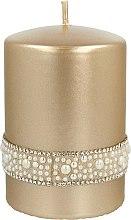 Kup Świeca dekoracyjna, 7 x 10 cm, złota - Artman Crystal Opal Pearl