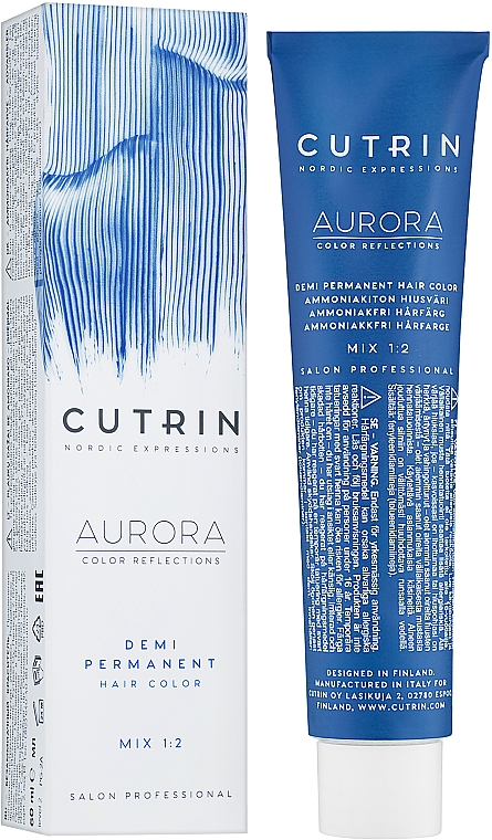 Farba do włosów bez amoniaku - Cutrin Aurora Demi Color  — фото N1