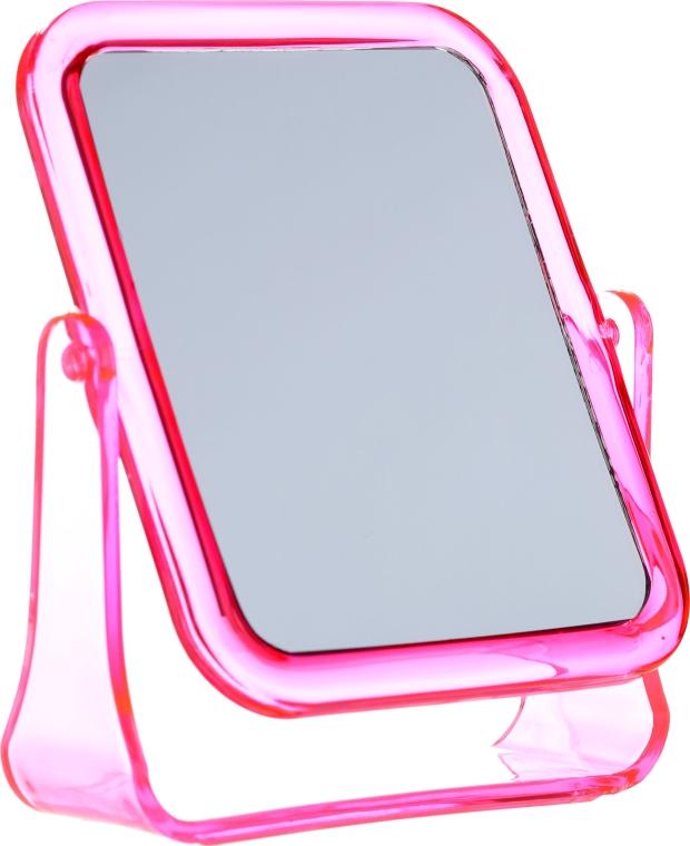 Lusterko kosmetyczne kwadratowe, 5282, różowe - Top Choice