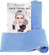 Kup Podróżny zestaw niebieskich ręczników do twarzy MakeTravel - Makeup