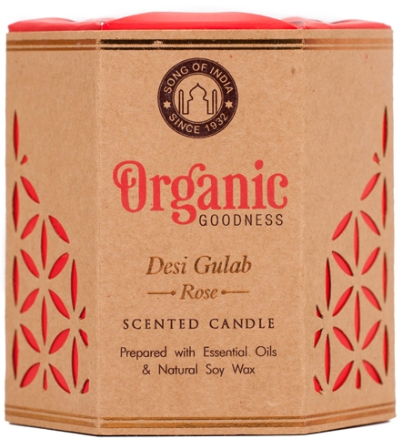 Świeca zapachowa Desi Gulab Rose - Song of India Scented Candle — фото N1