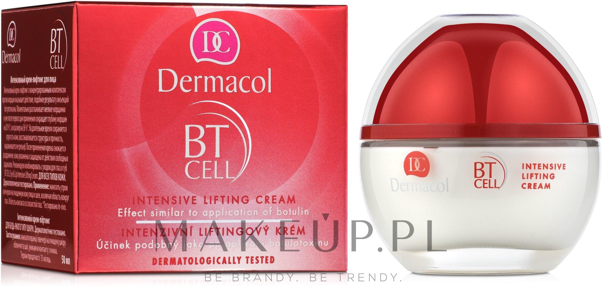 Krem intensywnie liftingujący do twarzy - Dermacol BT Cell Intensive Lifting Cream — фото 50 ml