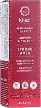 Kup Olejek wzmacniający do włosów - Khadi Ayuverdic Strong Amla Hair Oil