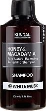 Kup Naturalny balansująco-odświeżający szampon do włosów Białe piżmo - Kundal Honey & Macadamia Shampoo White Musk