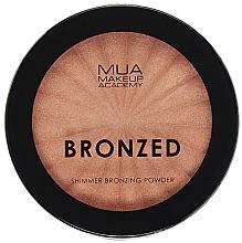 Kup Rozświetlający bronzer do twarzy - MUA Bronzed Shimmer Bronzing Powder Solar Shimmer