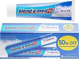 Kup Zestaw wybielających past do zębów - Blend-a-med 3D White Delicate White Toothpaste