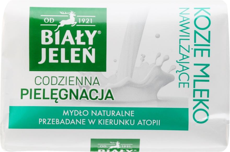 Hipoalergiczne mydło naturalne Kozie mleko i len - Biały Jeleń