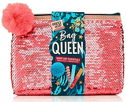 Kup Zestaw - Dirty Works Queen Night Out Essentials (lip/stick/2.8ml + b/spray/10ml + nail/file/1pcs + bag)