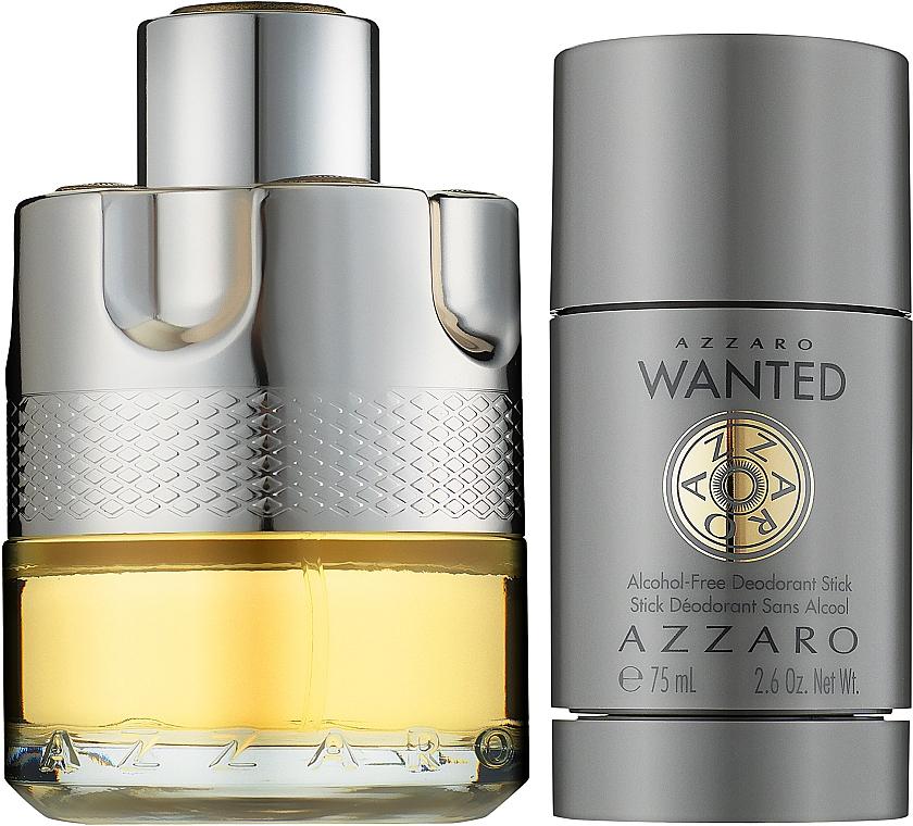 Azzaro Wanted - Zestaw (edt 50 ml + deo 75 ml) — фото N2