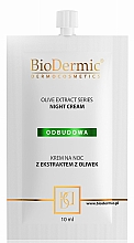 Kup Odbudowujący krem na noc z ekstraktem z oliwek - BioDermic Olive Extract Night Cream (miniprodukt)