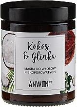 Kup Maska do włosów niskoporowatych Kokos i glinka - Anwen