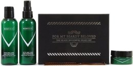 Kup Zestaw - Men Rock Awakening Beardy Beloved Care Kit (soap/100ml + balm/100ml + wax/25ml + comb/1pcs)