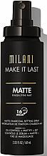 Kup Matujący spray utrwalający do twarzy - Milani Make It Last Matte Charcoal Setting Spray