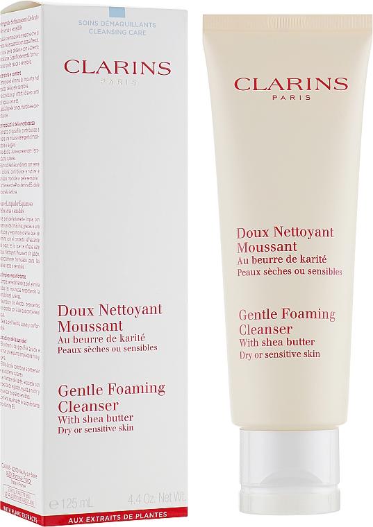Delikatna pianka oczyszczająca - Clarins Gentle Foaming Cleanser With Shea Butter
