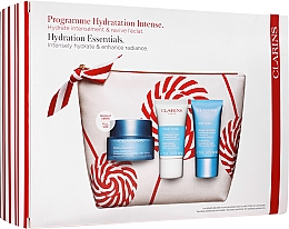 Kup Zestaw - Clarins Hydra-Essentiel Christmas Set (f/cr/50ml+f/scrub/15ml+f/mask/15ml+bag)