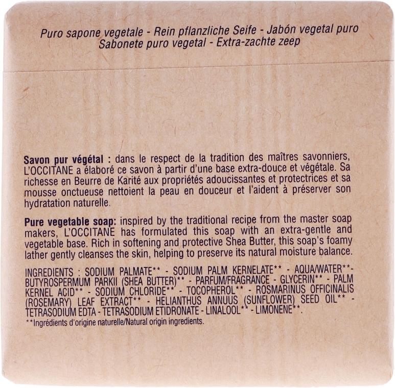 Lawendowe mydło Masło shea - L'Occitane Shea Butter Extra Gentle Soap-Lavender — фото N3
