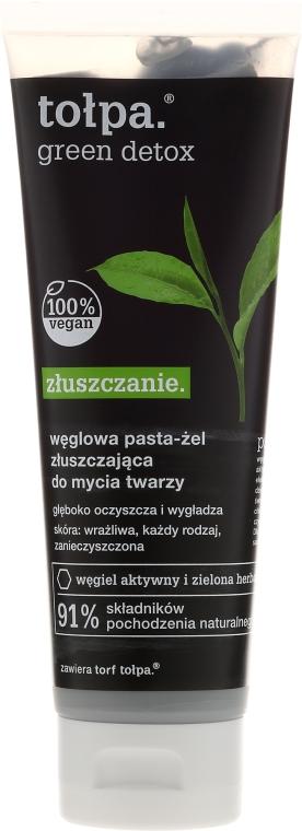Węglowa pasta-żel złuszczająca do mycia twarzy - Tołpa Green Detox