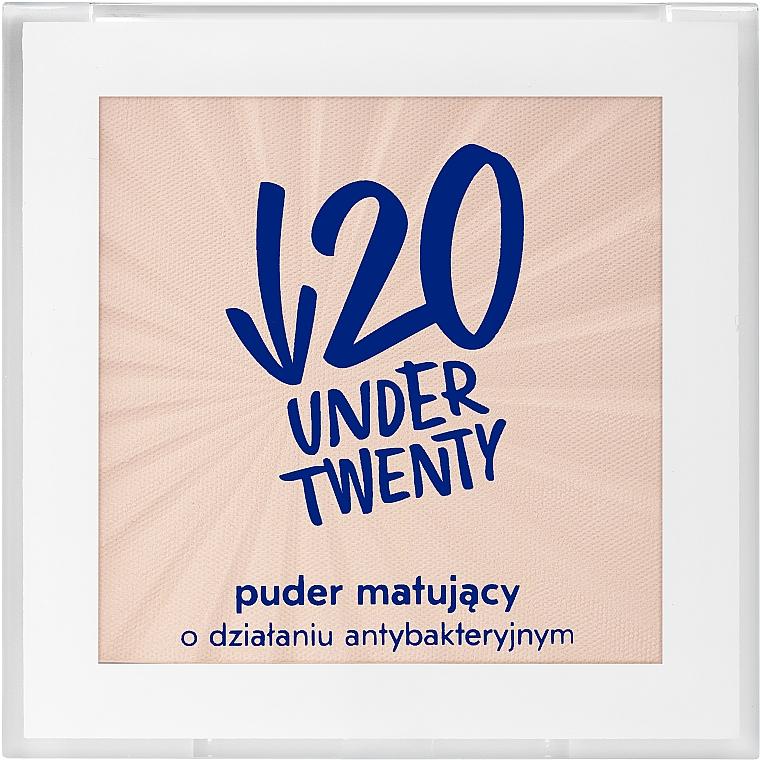Matujący puder o działaniu antybakteryjnym - Under Twenty