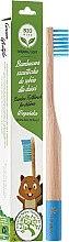Kup Miękka szczoteczka bambusowa do zębów dla dzieci, niebieska - Biomika Natural Bamboo Toothbrush