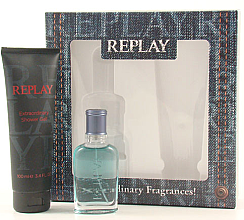 Replay Jeans Spirit! For Him - Zestaw (edt 30 ml + sh/gel 100 ml) — фото N2