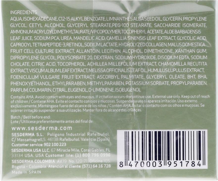 Nawilżający krem z kwasem migdałowym - SesDerma Laboratories Mandelac Moisturizing Cream — фото N2