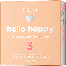 Podkład w pudrze do twarzy - Benefit Hello Happy Velvet Powder Foundation — фото N5