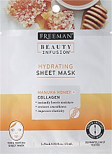 Kup Maska na tkaninie do twarzy - Freeman Beauty Infusion Hydrating Sheet Mask Manuka Honey + Collagen