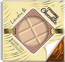 Kup Matujący puder brązujący do twarzy i ciała Mleczna czekolada - Lovely Creamy Chocolate Deep Matte Bronze