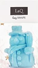 Kup Naturalne mydło ręcznie robione o zapachu pierniczkowym Bałwanek - LaQ Happy Soaps Blue Snowman