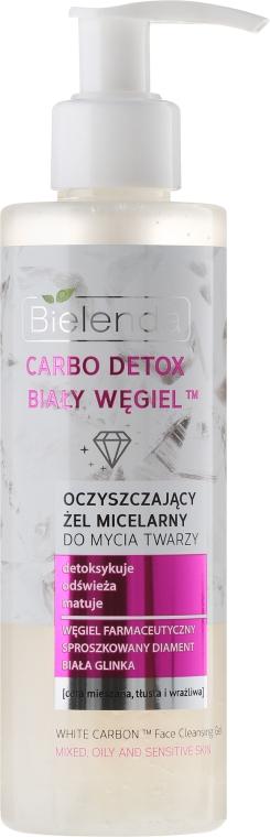 Oczyszczający żel micelarny do mycia twarzy Biały węgiel - Bielenda Carbo Detox — фото N1