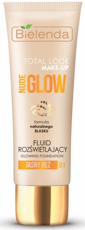 Fluid rozświetlający do twarzy - Bielenda Total Look Make-Up Nude Glow
