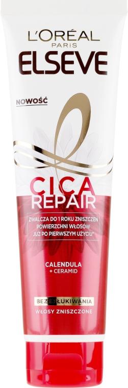 Odbudowujący preparat bez spłukiwania do włosów zniszczonych - L'Oreal Paris Elseve Total Repair 5 Cica Repair