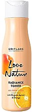 Kup Odświeżający tonik do twarzy z organiczną morelą i pomarańczą - Oriflame Love Nature Radiance Toner