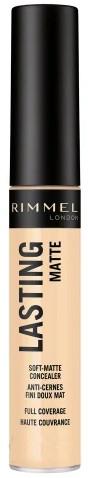 Matowy korektor do twarzy - Rimmel Lasting Matte Full Coverage Concealer