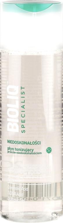 Tonizujący płyn przeciw niedoskonałościom - Bioliq Specialist Toning Water