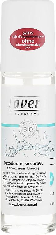 Organiczny dezodorant w sprayu do skóry wrażliwej - Lavera Basis Sensitive 24H Deodorant Spray — фото N1