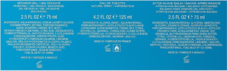 Zestaw dla mężczyzn - Davidoff Cool Water (edt 125 ml + sh/gel 75 ml + ash/balm 75 ml) — фото N3