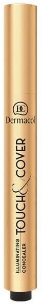 Rozświetlający korektor z pędzelkiem - Dermacol Highlighting Elick Concealer Touch & Cover